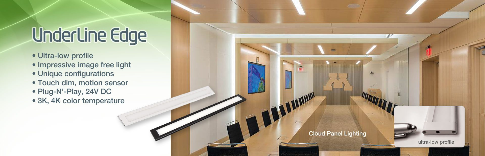 UnderLine Edge - Impressive image free light from Solid State Luminaires
