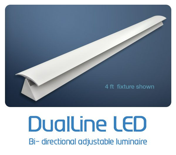 DualLine indirect adjustable LED by Solid State Luminaires