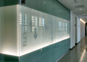 Lackland AFB frosted glass LED light grazer application